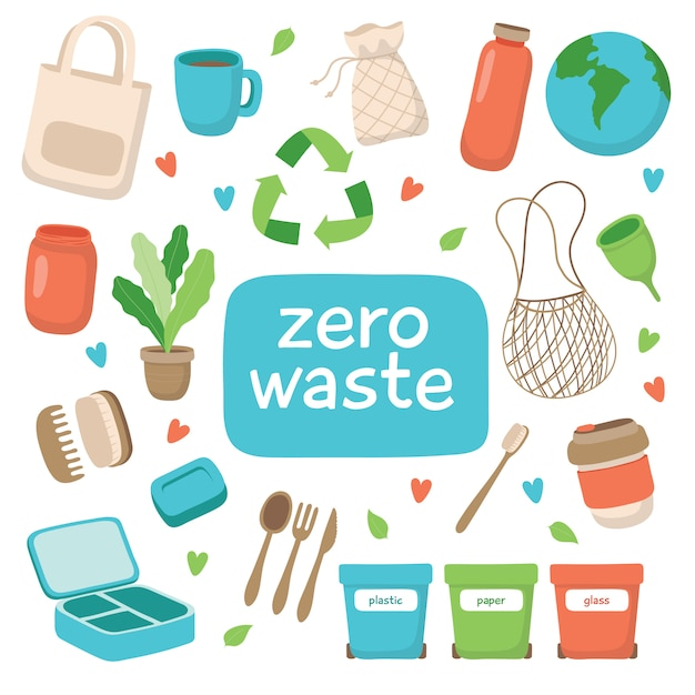 Concepto de residuos cero Vector Premium