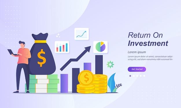 Concepto de retorno de la inversión Vector Premium