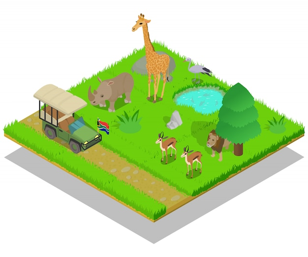 Concepto de safari Vector Premium