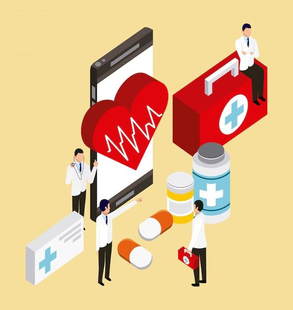 Concepto de salud digital vector gratuito