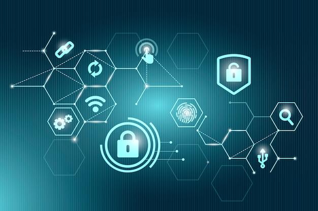 Concepto de seguridad cibernética vector gratuito