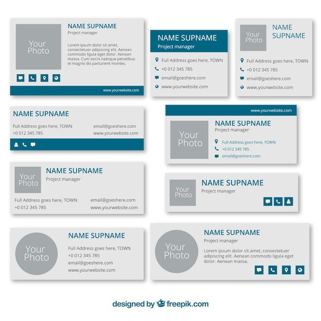 Concepto de signatura de email vector gratuito