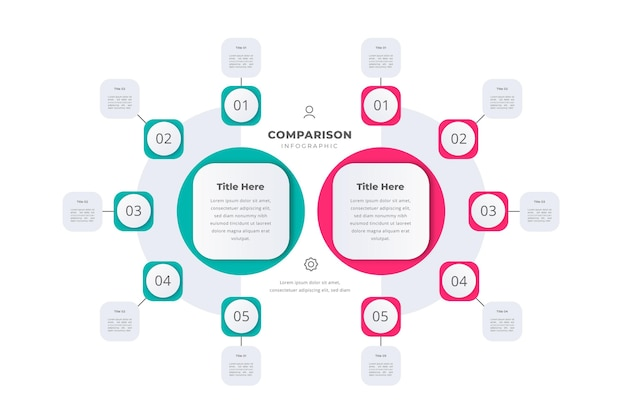 Concepto de tabla de comparación vector gratuito