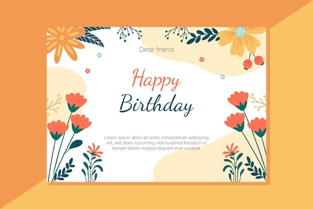 Concepto de tarjeta de feliz cumpleaños vector gratuito