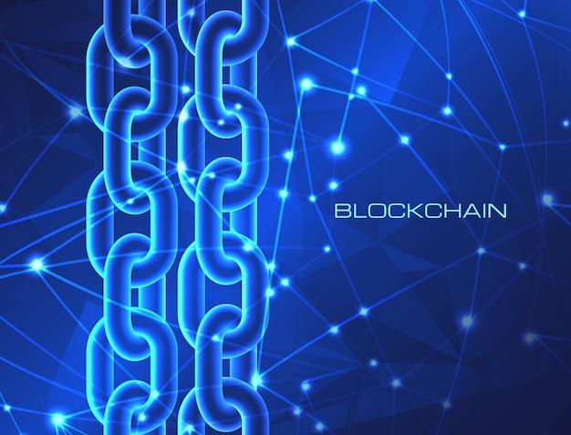Concepto de tecnología blockchain blockchain datos de base de datos negocio de criptomonedas Vector Premium