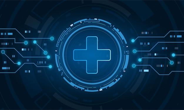 Concepto de tecnología de innovación médica de atención médica Vector Premium