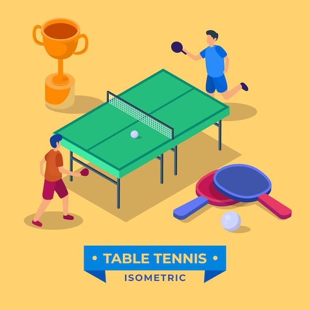 Concepto de tenis de mesa vector gratuito