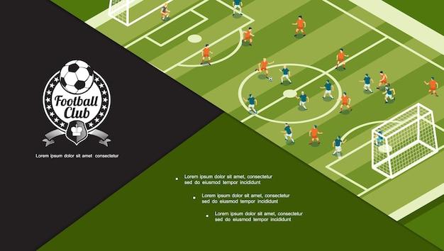 Concepto de torneo de fútbol vector gratuito