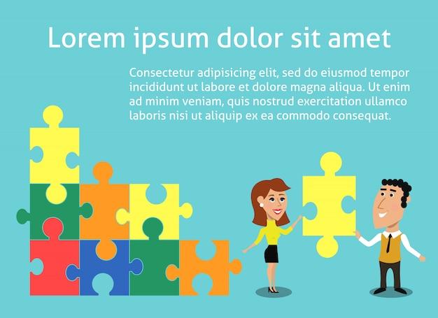 Concepto de trabajo en equipo de negocios vector gratuito
