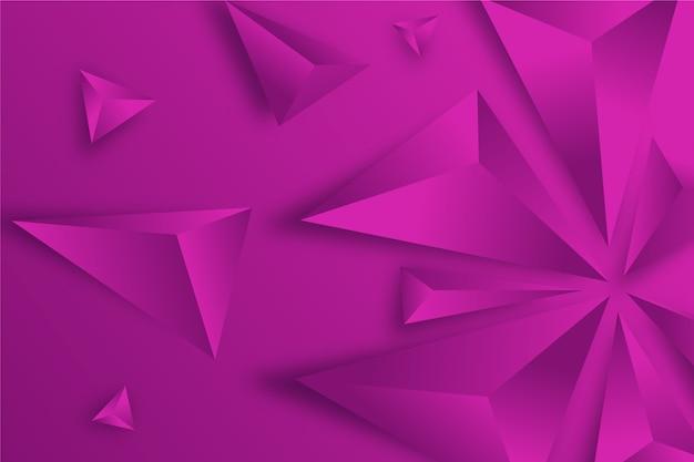 Concepto de triángulos 3d para fondos de pantalla vector gratuito
