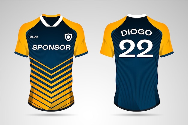 Concepto de uniforme de fútbol vector gratuito