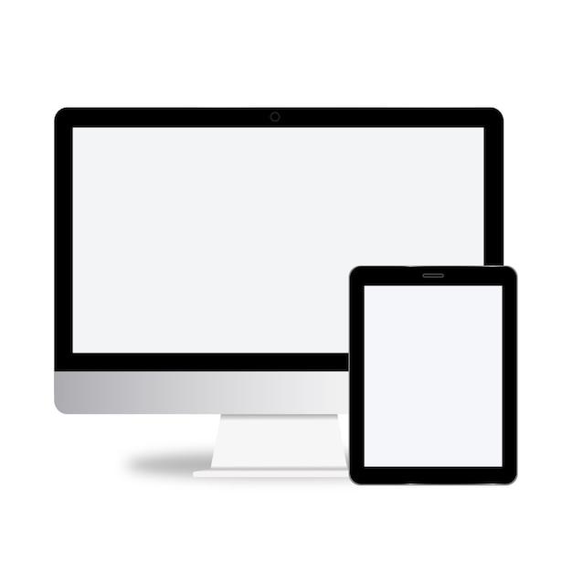 Concepto de vector de icono de dispositivo de tecnología digital vector gratuito