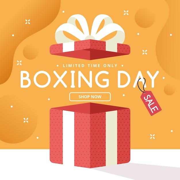 Concepto de venta de día de boxeo de diseño plano vector gratuito