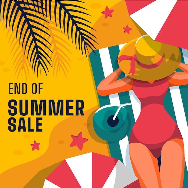 Concepto de venta de verano de fin de temporada. vector gratuito