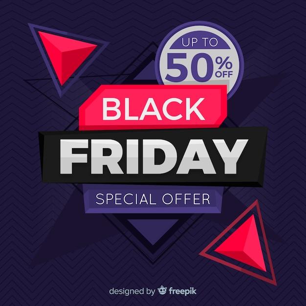 Concepto de viernes negro con diseño plano backgroung vector gratuito