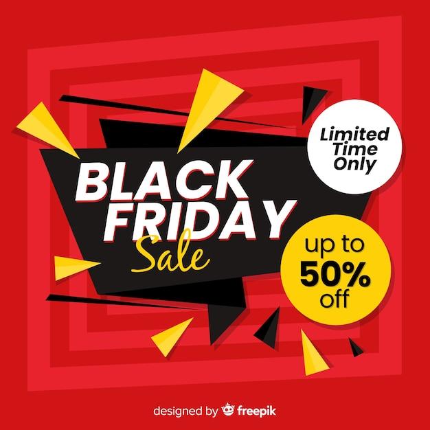 Concepto de viernes negro en diseño plano vector gratuito