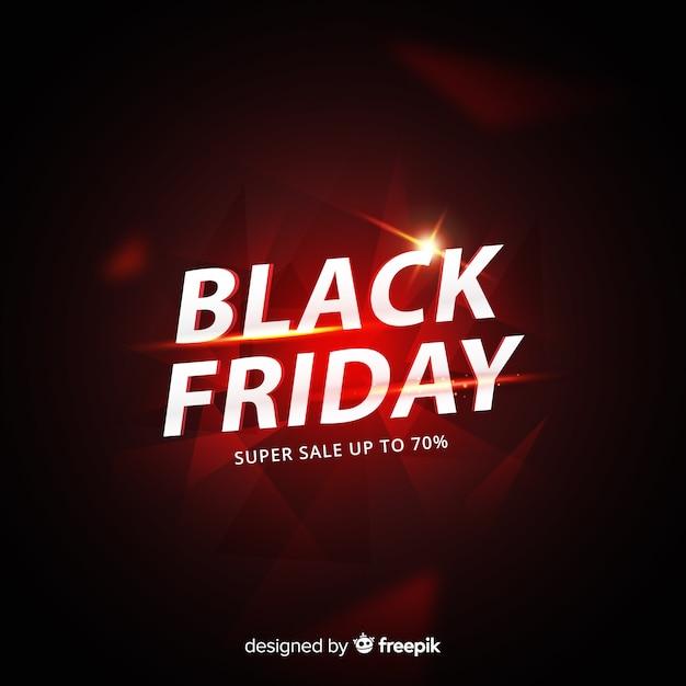 Concepto de viernes negro con fondo degradado vector gratuito