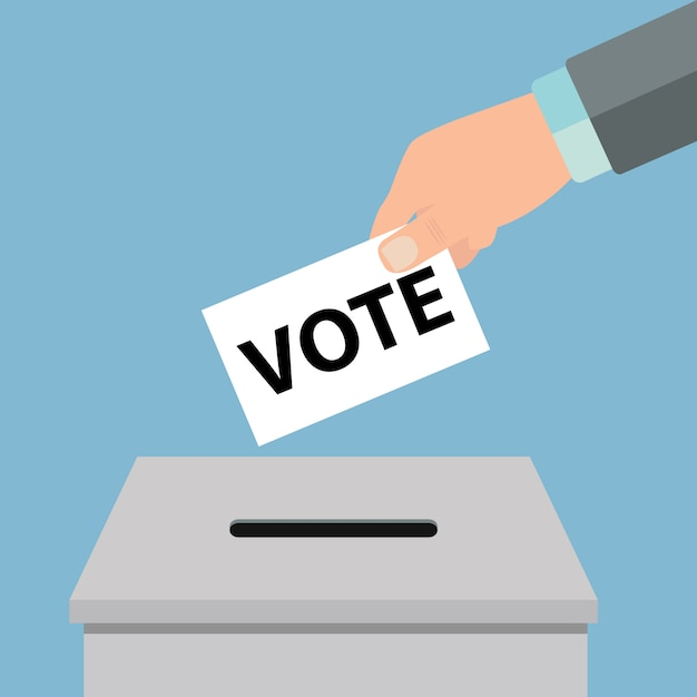 Concepto de votacion Vector Premium