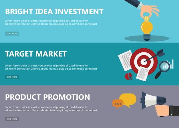 Conceptos de diseño de planos para el mercado vector gratuito