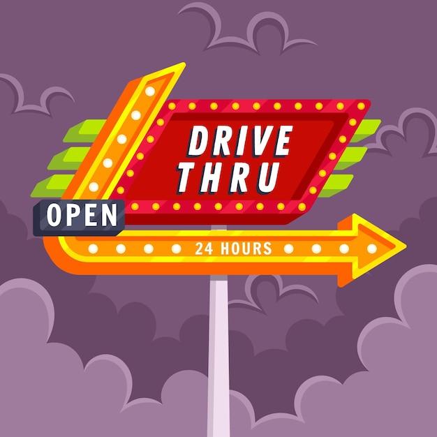 Conducir a través de la señal vector gratuito