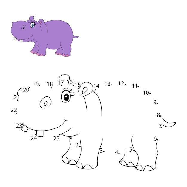Conecte el número para dibujar el juego educativo animal para niños ...
