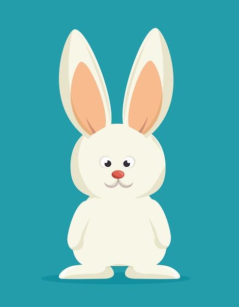 Conejito de dibujos animados conejo blanco | Descargar Vectores Premium