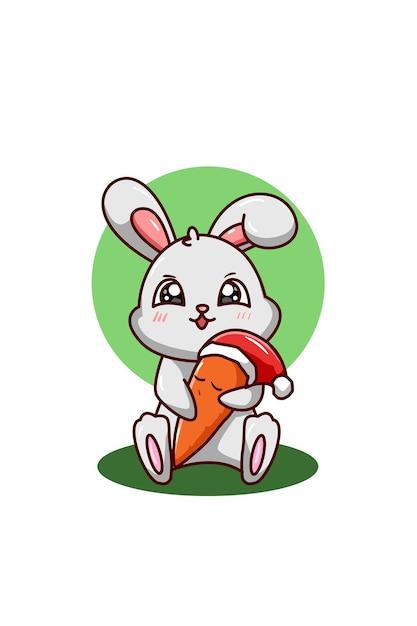 Un Conejo Abraza La Zanahoria Con Sombrero De Navidad Vector Premium Las zanahorias contienen importantes cantidades de vitamina e y vitamina a, así como nutrientes entonces, nada como una combinación de zanahoria y pepino para ayudarte a dar los primeros. https www freepik es profile preagreement getstarted 11186292