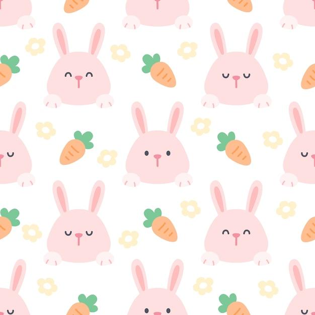 Conejo Y Zanahoria Sin Fisuras De Fondo Vector Premium Licuar las zanahorias con el huevo y el aceite. https www freepik es profile preagreement getstarted 7196768