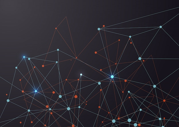 Conexión de líneas y puntos Vector Gratis