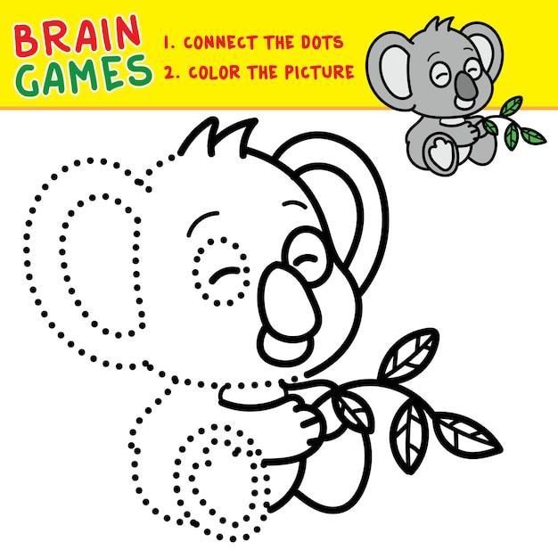 Conexión De Los Puntos Para Colorear Juegos De Cerebro Para