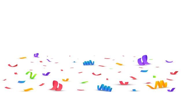 Confeti brillante colorido aislado en transparente. Vector Premium