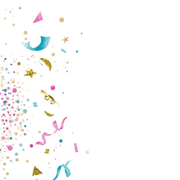 Confeti colorido diseño de celebración vector gratuito