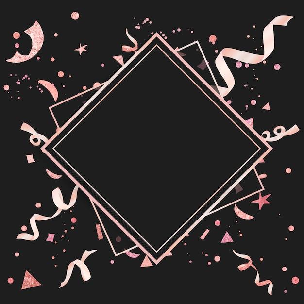 Confeti rosa claro con diseño festivo. vector gratuito