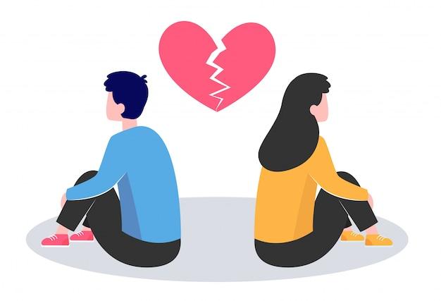 Conflicto en pareja vector gratuito