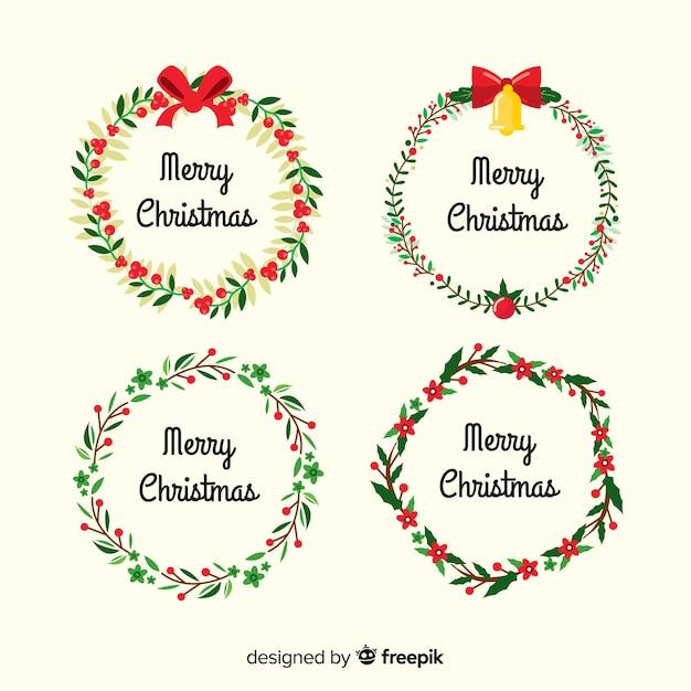 Conjunto adorable de bordes y marcos de navidad vector gratuito