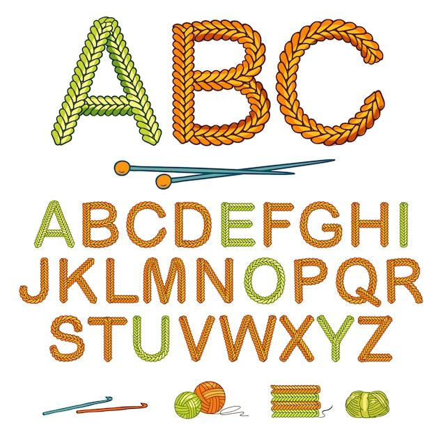 Conjunto de alfabeto de punto cálido vector gratuito