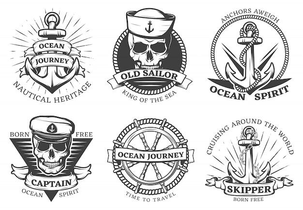 Conjunto de ancla de tatuaje antiguo vector gratuito