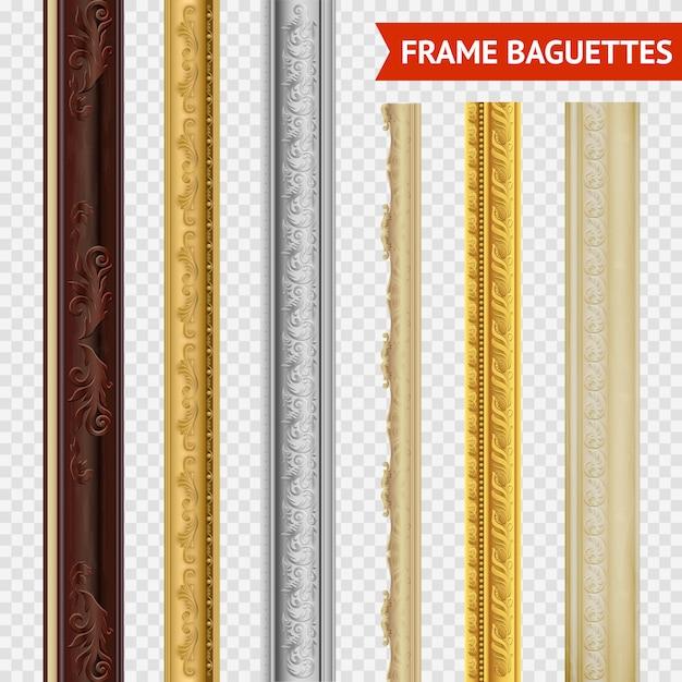 Conjunto baguette marco Vector Premium