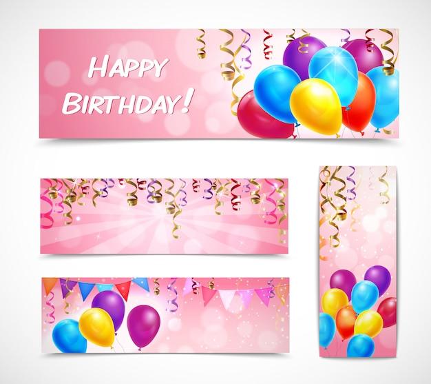 Conjunto de banners de celebración vector gratuito