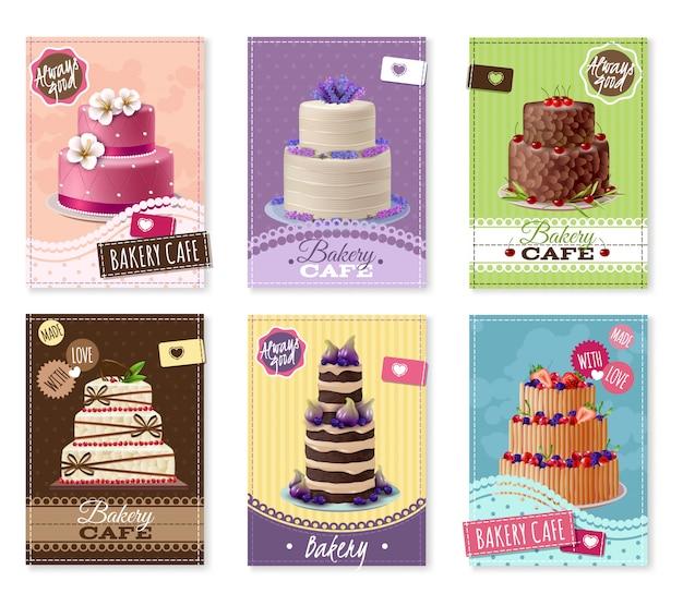 Conjunto de banners de panadería vector gratuito
