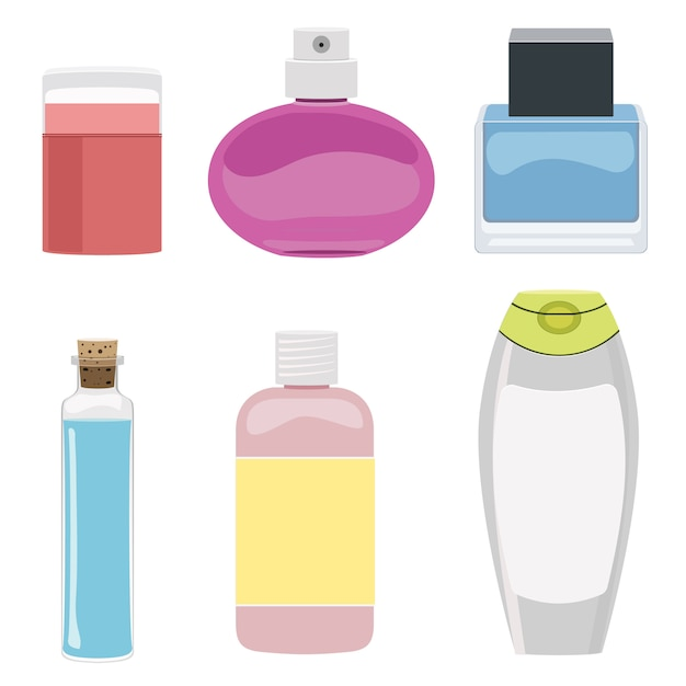 Conjunto de botella cosmética Vector Premium