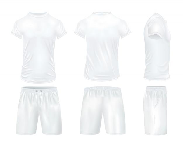 Conjunto de camisas y pantalones cortos vector gratuito