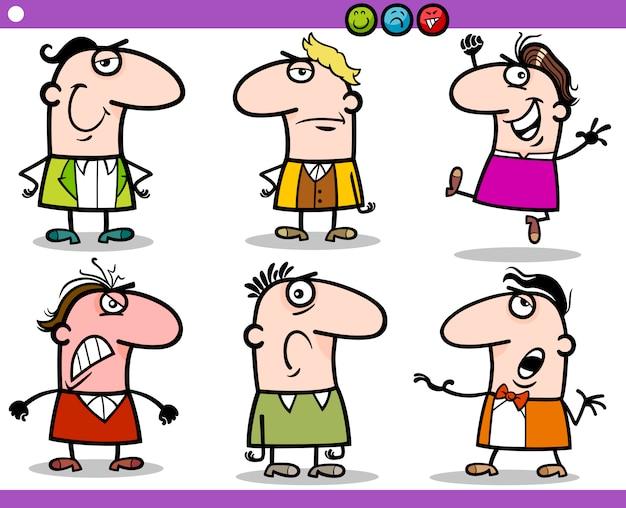 Conjunto De Caracteres De Emociones De Personas De Dibujos Animados