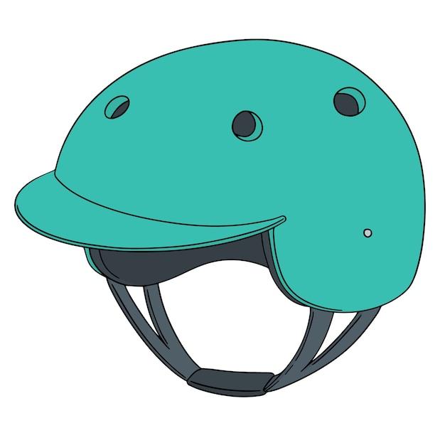 Conjunto de casco de bicicleta Vector Premium