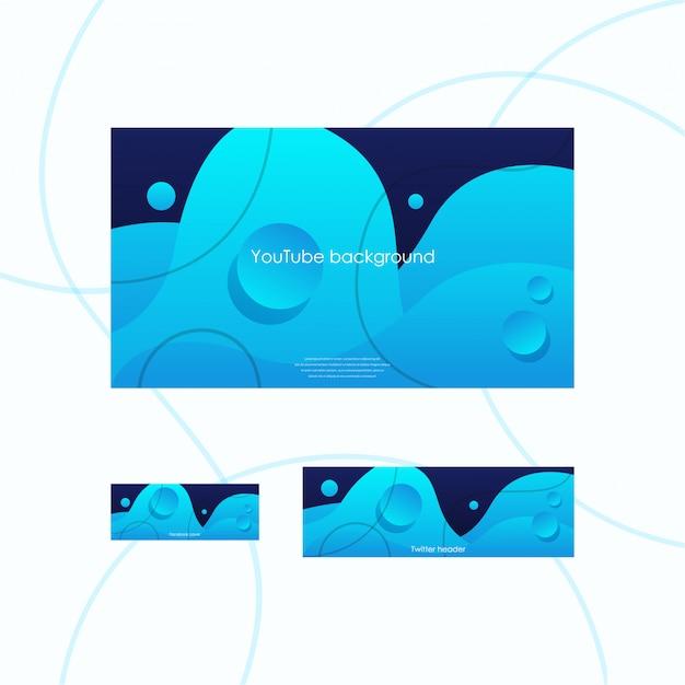 Conjunto de cobertura de redes sociales Vector Premium