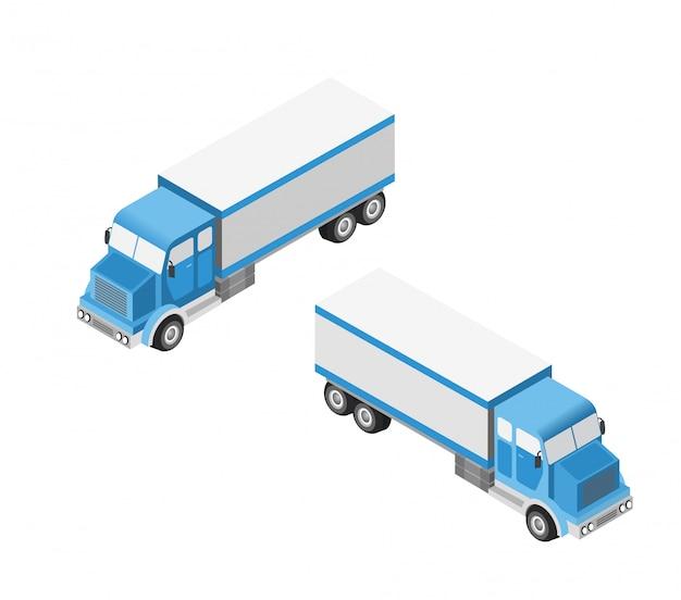 Conjunto de coches y camiones. Vector Premium