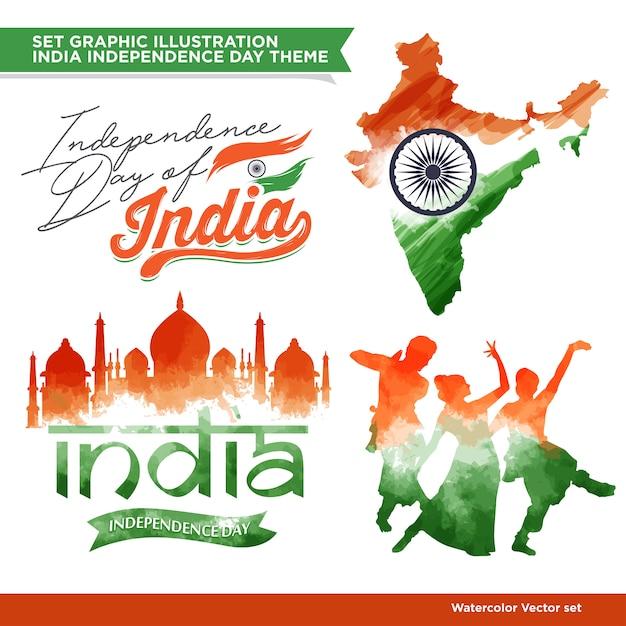 Conjunto de concepto de la india Vector Premium