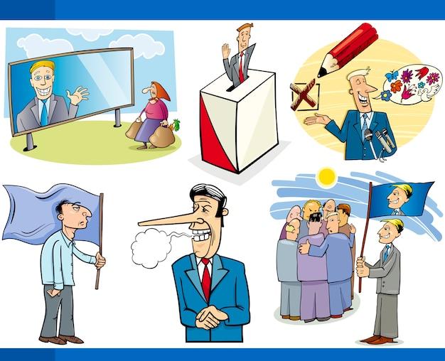 Conjunto De Conceptos De Política De Dibujos Animados Descargar