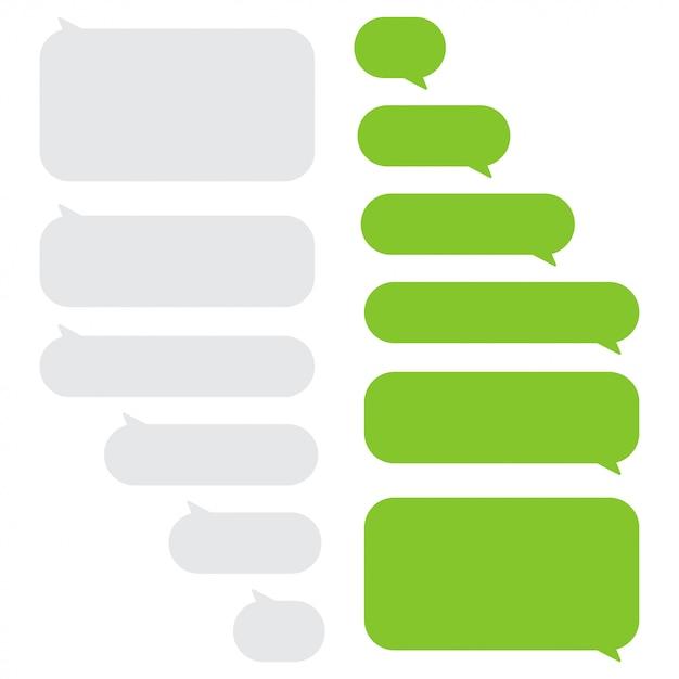 Conjunto de cuadros de chat de burbujas de mensaje Vector Premium
