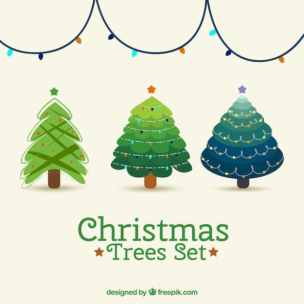Conjunto de rboles bonitos de navidad descargar - Arboles de navidad bonitos ...